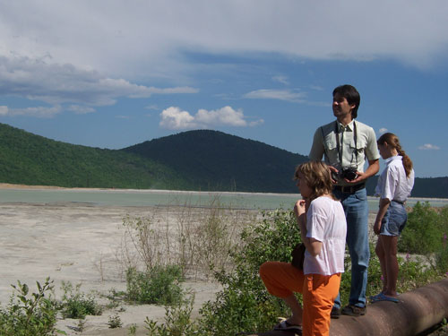 FEHF staff examining tailings of Dalpolymetall Company near Dalnegorsk